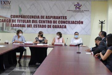 Analiza Congreso perfil de aspirantes a titular del Centro de Conciliación Laboral de Oaxaca