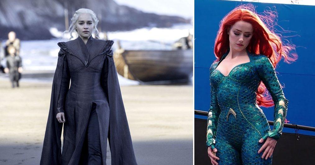 Amber Heard fuera de Aquaman 2, entra Emilia Clarke: Forbes