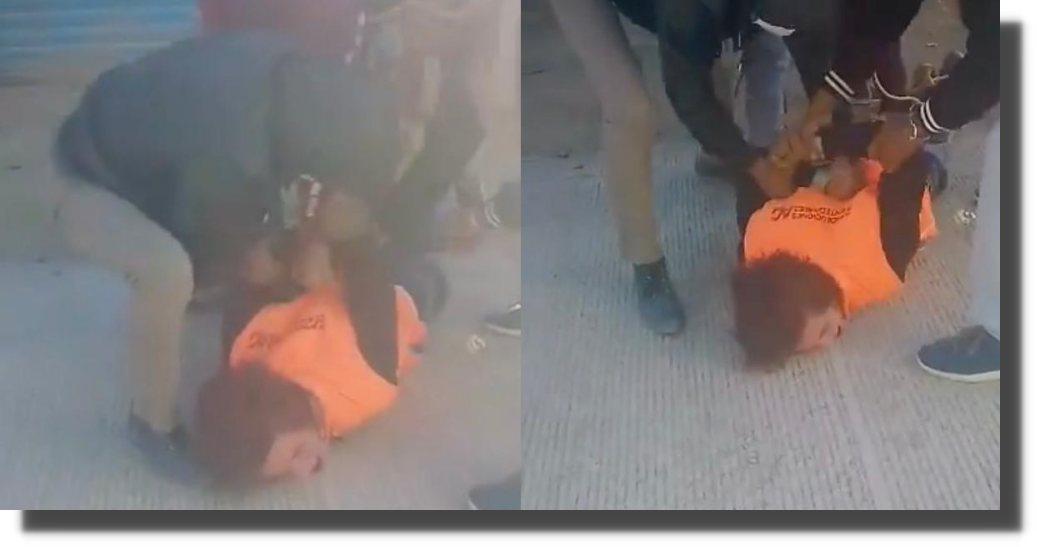 """""""No vuelvo a robar"""": comerciantes golpean a presunto ladrón en Oaxaca"""