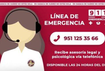 Atiende Ayuntamiento de Oaxaca de Juárez 422 solicitudes en línea de emergencia para mujeres