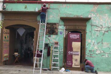 Mantiene Ayuntamiento trabajos de preservación del patrimonio arquitectónico en el Centro Histórico