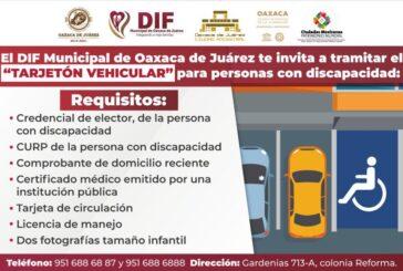 DIF Municipal continúa entregando tarjetones de estacionamiento para personas con discapacidad