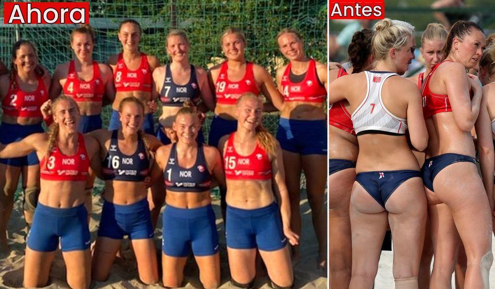 Noruega desafía la norma del bikini obligatorio en el balonmano playa