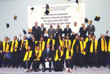Egresa la primera generación de la Maestría en Ciencias del Deporte de la UABJO