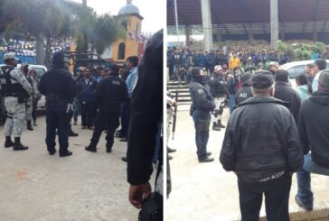 Elementos de la Guardia Nacional y de la Fiscalía de Oaxaca son retenidos en Santiago Textitlán