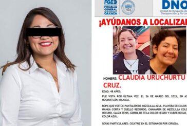 Obtiene Fiscalía de Oaxaca auto de vinculación a proceso contra otros dos probables implicados en desaparición de Claudia Uruchurtu