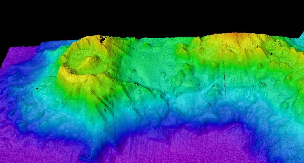 Científicos descubren el «ojo de Sauron», un antiguo volcán submarino