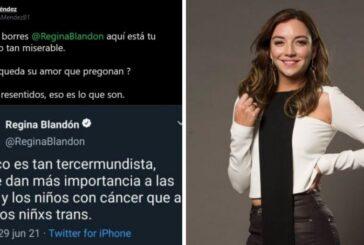 Regina Blandón estalla por falso tuit sobre niños con cáncer