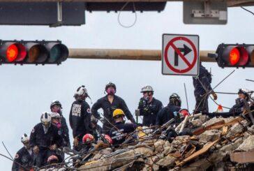 Rescatista encuentra cuerpo de su hija entre escombros de edificio derrumbado en Miami
