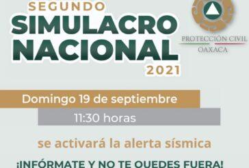 Convoca la CEPCO a participar en el Segundo Simulacro Nacional, el domingo 19 de septiembre