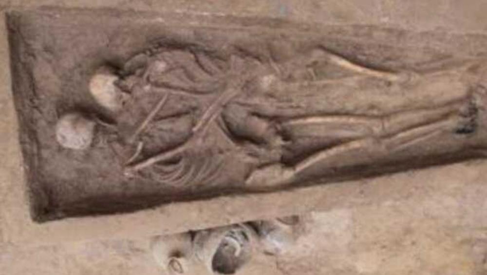 Una pareja enterrada hace 1.500 años en China dejó huella de su amor
