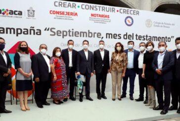 """Promueve Gobierno de Oaxaca """"Septiembre, mes del testamento"""""""