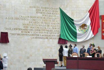 Inscribe Congreso oaxaqueño letras de oro en honor a la Armada de México