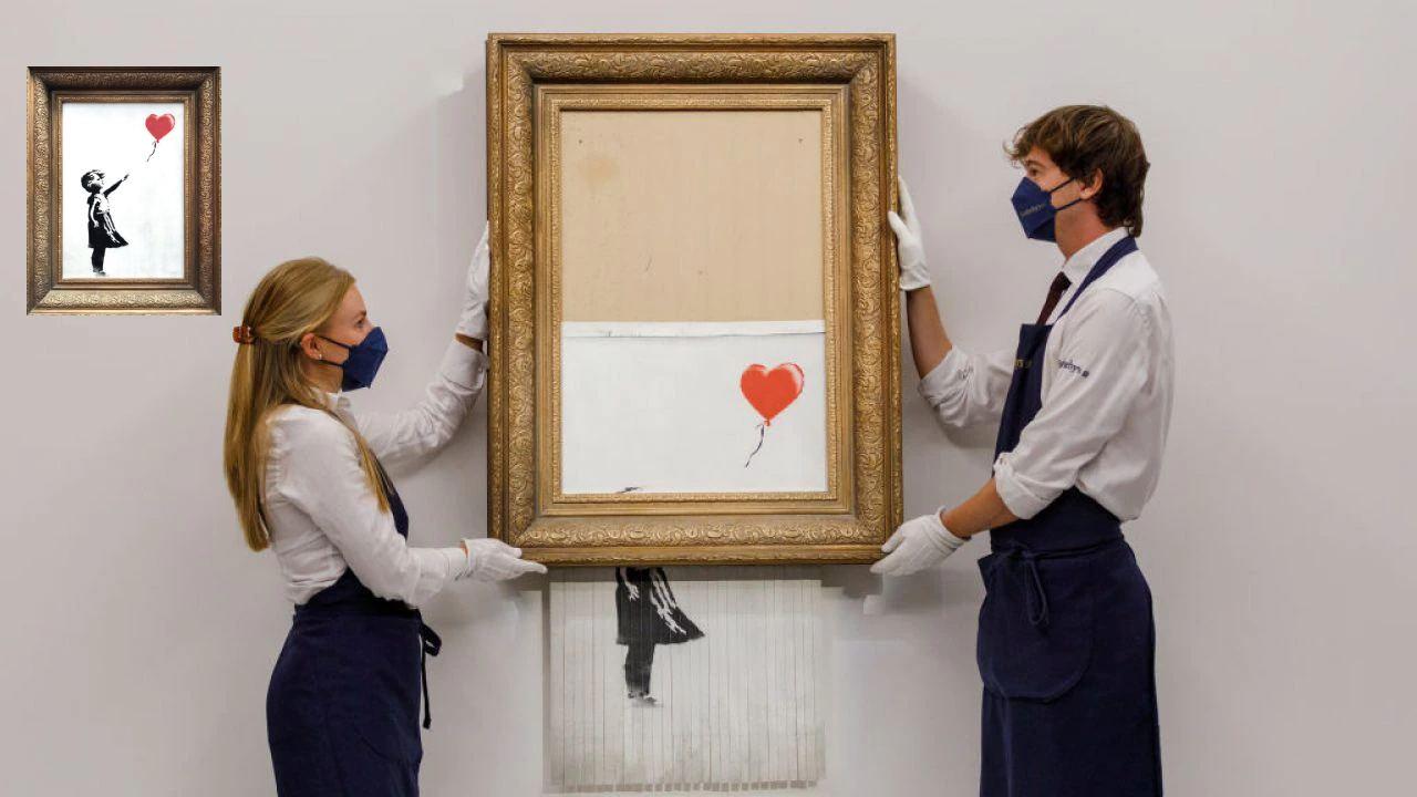 'Love is in the Bin', cuadro de Bansky que fue autodestruido, volverá a ser subastado