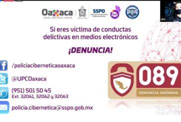 Imparte SSP Oaxaca plática para prevenir el ciberacoso en la comunidad universitaria