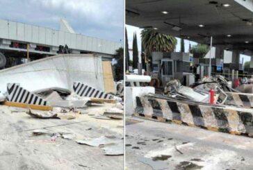 VIDEOS: México-Puebla: Tráiler se queda sin frenos y embiste varios autos
