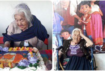 'Mamá Coco' cumple 108 años en Michoacán; la festejan con pastel