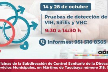 Anuncian Ayuntamiento de Oaxaca y COESIDA jornada de detección de VIH, Sífilis y VHC
