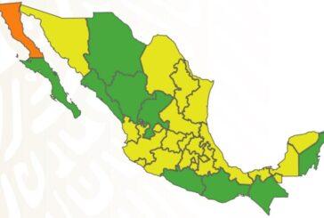 Casi una tercera parte de México queda en semáforo verde por COVID