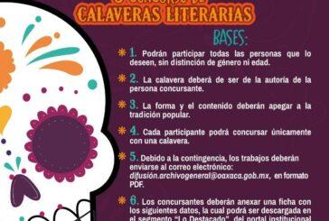 Convoca AGEO al quinto Concurso de Calaveras Literarias