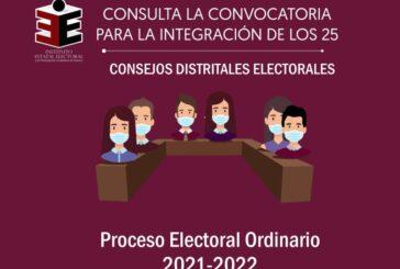 Continúa abierto registro para la integración de 25 Consejos Distritales del IEEPCO