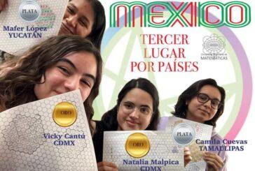 Mexicanas conquistan el oro y plata en olimpiadas de matemáticas